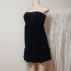 BEBE TERRY CLOTH STRAPLESS DRESS/COVER UP!